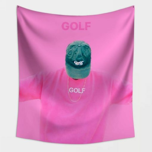 """WallArt Tapestries 51"""" X 60"""" PINK-GOLF-Tyler, the Creator Wall Tapestry"""