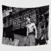 """WallArt Tapestries 51"""" X 60"""" Tongue out black and white photo XXXTentacion Wall Tapestry"""