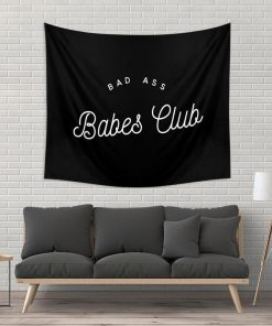 WallArt Tapestries BAD ASS BABES CLUB B&W Wall Tapestry