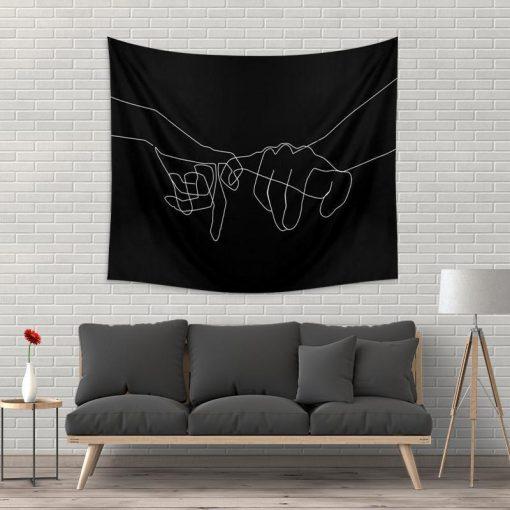 WallArt Tapestries Black Pinky Swear Wall Tapestry