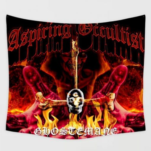 WallArt Tapestries Ghostemane For the Aspiring Occultist Wall Tapestry