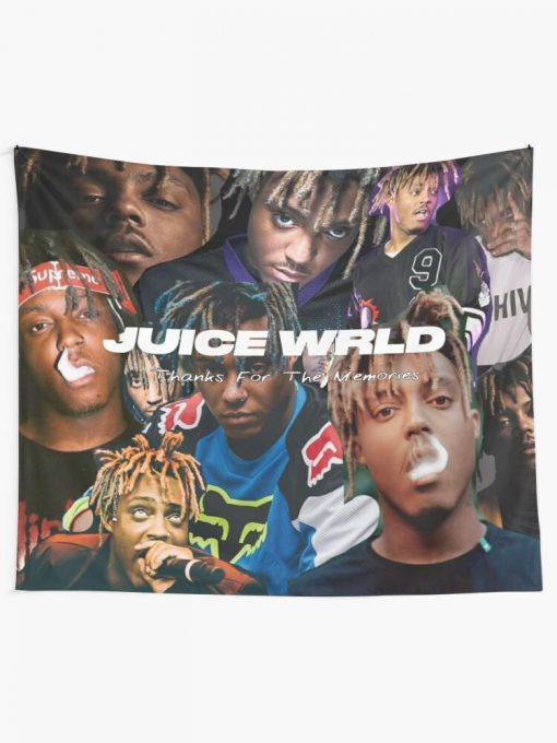 WallArt Tapestries Juice WRLD Thanks For The Memories Wall Tapestry