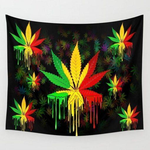 WallArt Tapestries Marijuana Leaf Wall Tapestry