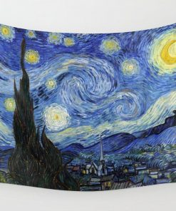 WallArt Tapestries Starry Night by Vincent Van Gogh Wall Tapestry