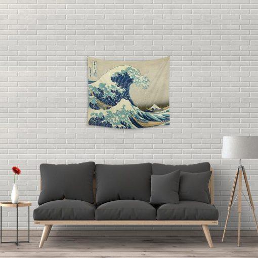 WallArt Tapestries The Great Wave of Kanagawa Wall Tapestry