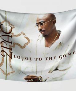WallArt Tapestries Tupac Shakur Loyal To The Game Wall Tapestry