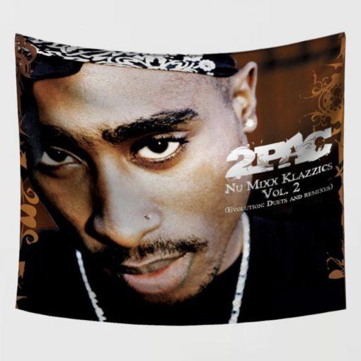 WallArt Tapestries Tupac Shakur Wall Tapestry
