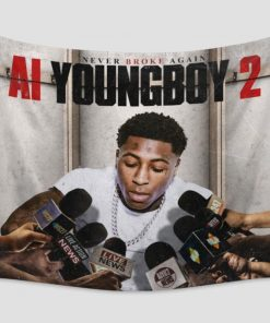 WallArt Tapestries YoungBoy Never Broke Again AI YoungBoy 2 Wall Tapestry