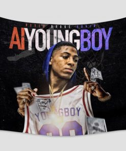 WallArt Tapestries YoungBoy Never Broke Again AI YoungBoy Wall Tapestry